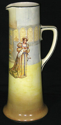 """Royal Doulton Shakespeare Series Large 15"""" Pitcher Katharine D3596"""