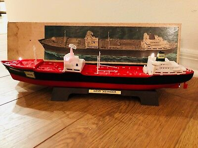 Vintage 1966 Hess Voyager Tank Ship With Box