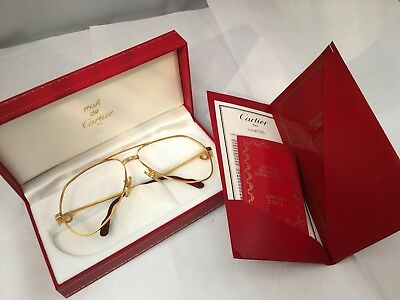 Vintage Louis Cartier Vendome Santos Aviator Glasses 14k Gold Golf Sunglasses