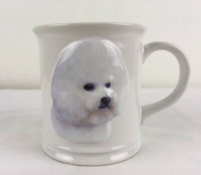 NWT 2009 BICHON FRISE Dog Coffee Mug with raised 3D design by Xpres White 11 oz