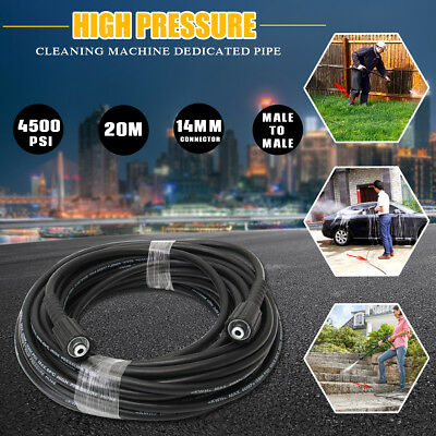20m 4500PSI Pressure Water Cleaner Washer Hose Fit 14mm Male To Male Connection