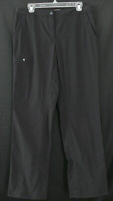 LL Bean Size 10 Pants Womens Black UPF 40+ Wicking Stretch Abbrasion Resist NWT