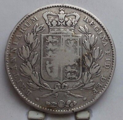 1845 Great Britain Silver Crown Coin V G+