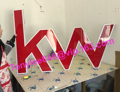 Channel letter signage, made of stainless steel, 24-inch tall, customized sizes