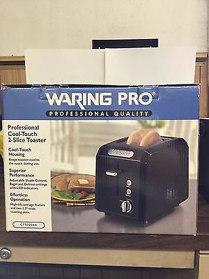 Waring CTT200BK Professional Cool Touch 2 Slice Toaster NEW IN BOX NEW NEW NEW