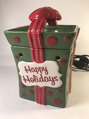 "Scentsy ""All Wrapped Up"" Warmer - Happy Holidays - Full Size - Retired"