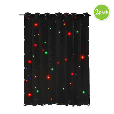 AU SHIP LED Star Cloth 3x2m DMX Sound Control Stage SHOW Screen Backdrop 2 Pack