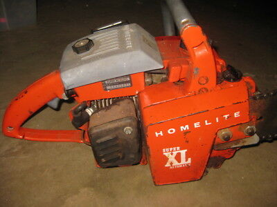 """Vintage Homelite Super XL Automatic Chainsaw with 20"""" Bar"""