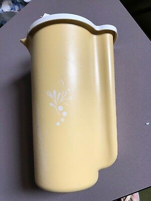 Tupperware Water Jug For Fridge Container - Harvest Gold Ex Cond