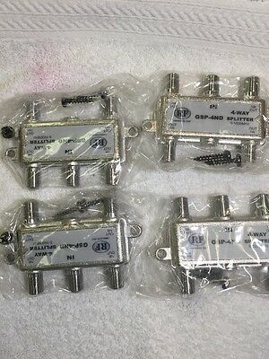 Lot Of 4  RF Communications GSP-4ND 5 WAY Coax Cable Splitter 5-1000MHz