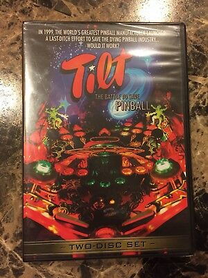 TILT The Battle To Save Pinball 2 Disc DVD Set BRAND NEW SEALED Over 7 hours NIB