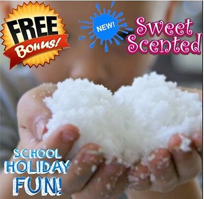 INSTANT FAKE SNOW KIDS PLAY DECORATION DISPLAY - RESEALABLE 100g BAG- Non Toxic