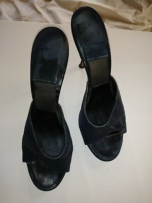 Ladies Vintage Slip-On Mule Springolators 7.5 - 8 midnight navy