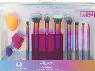 Real Techniques Mega Brush Set 12 Pieces Party Make-Up IDEAL CHRISTMAS PRESENT