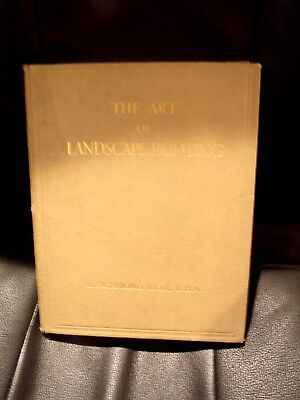 The Art of Landscape Painting 1935 1st Edition HC BOOK  SIGNED RARE HTF