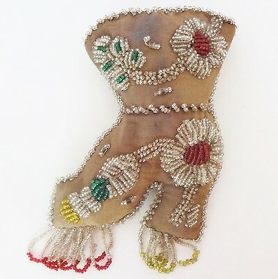 Antique Tuscarora Iroquois Native American Beaded Pin Cushion Boot / Shoe
