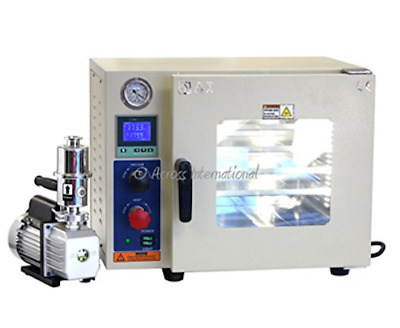 Across International AT09p.110 Ai Vacuum Oven with EasyVac 1.8 cfm Pump, 5 Sided