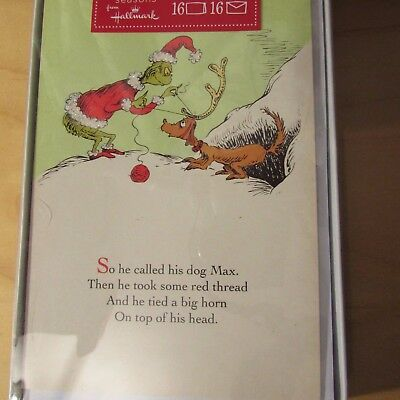 Hallmark The Grinch Who Stole Christmas Dr Suess Cards New MIB box of 16