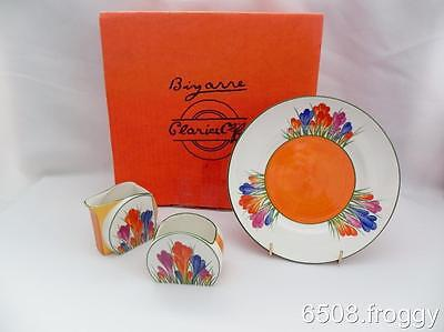 Wedgwood - CLARICE CLIFF - Crocus - *Tea  for Two*  SET - L/Edition MINT