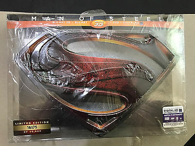 Man of Steel (3D+Blu-ray+DVD) 4-Disc, Limited Collectors Edition NEW RARE OOP
