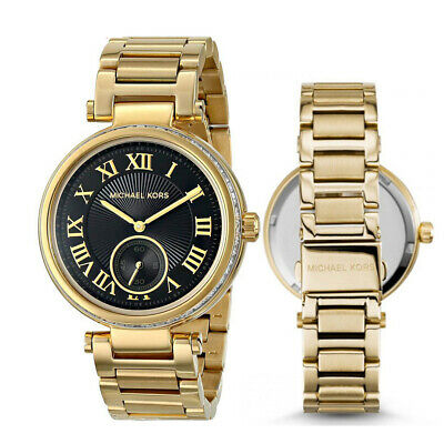 970df805ccea New Michael Kors MK5989 Women s Skylar Gold-Tone Stainless Steel Bracelet  Watch