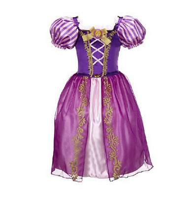 Girls Fairy tale Princess Tangled Rapunzel Kids Fancy Dress Outfit 2-8 Years AU