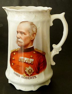 ENGLISH BOER WAR Commemorative LORD ROBERTS Continental porcelain JUG C1900