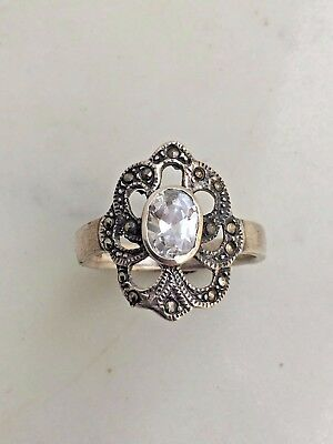 Vintage Marcasite S/Silver Ring #2