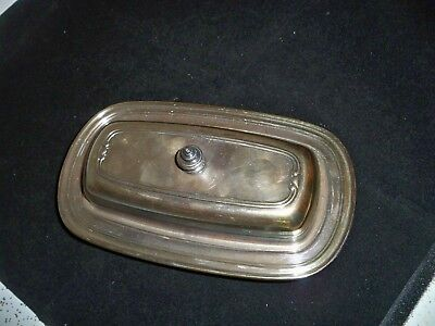 Oneida Silverplated  Butter  Dish  With  Lid  And  Glass Insert