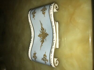 Rarest Antique porcelain made in France for Carlin Comforts heavy gold gilded