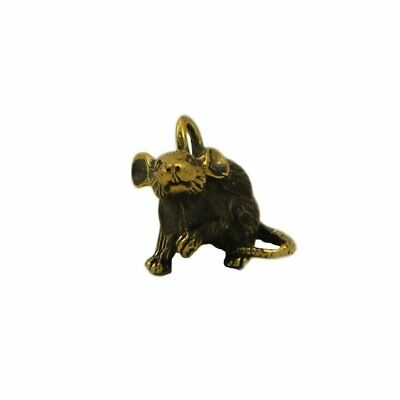 Money mouse Bronze small Statuette Handmade Figurine Keychain