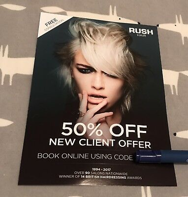 Rush Hair - 50% off New Client Offer - Online Code