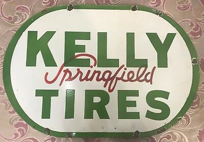 Kelly Springfield Tires porcelain AM sign linchbourgh good year tire sign 36x24