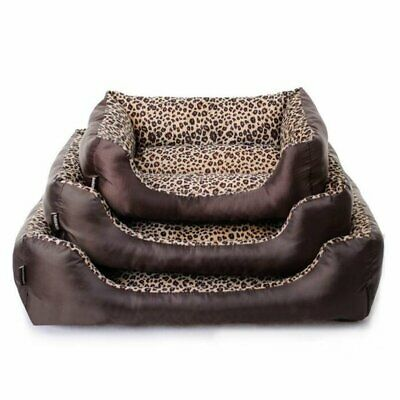 Pet Dog Cat Warm Basket Bed Deluxe Soft Washable Cushion Mat With Fleece Lining