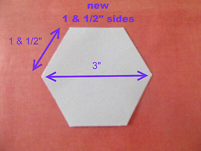 1000 Laser Cut Hexagon Patchwork Paper Templates 1 & 1/2 Inch Sides Epp Hexies