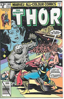 THOR #289 (1979 vf/nm 9.0) Price guide value in this grade $8.00 (£6.00)