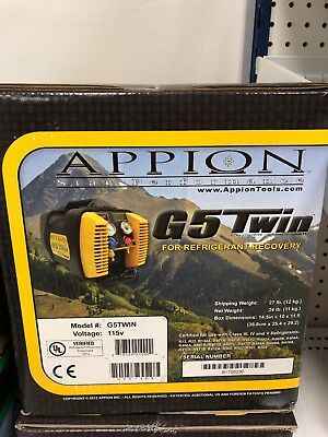 Appion G5 Twin Refrigerant Recovery Unit - Sealed New In Box
