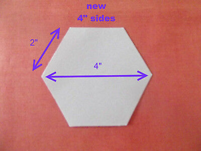 1000 Laser Cut Hexagon Patchwork Paper Templates Two (2) Inch Sides Epp Hexies