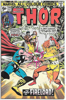 THOR #246 (1977 vf/nm 9.0) Price guide value in this grade $14.00 (£10.00)