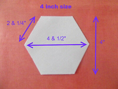 500 Laser Cut Hexagon Patchwork Paper Templates 2 & 1/4 Inch Sides Epp Hexies