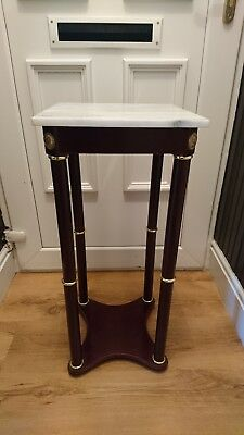 Solid Marble Top&wood Stand/table