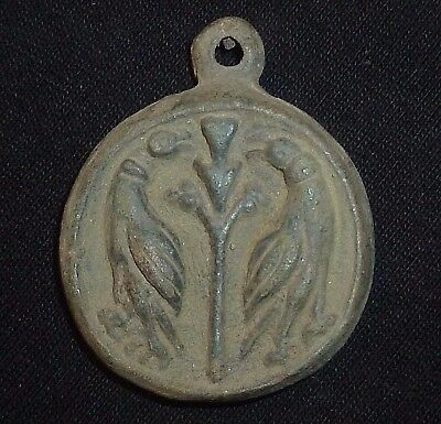 ROMAN Ancient Artifact - two-sided BIRDS AMULET Circa 200-300 AD    -A449