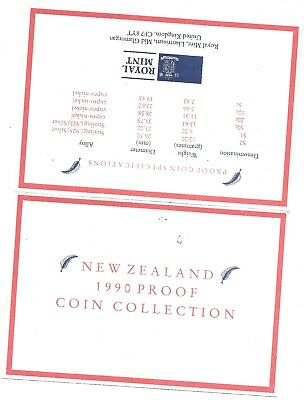 1990 New Zealand 6 Coin C.O.A. Document~No Coins~Free Shipping