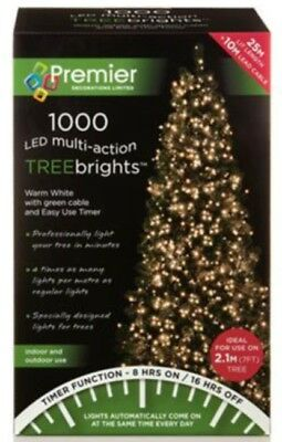 premier 1000 leds multi action treebrights light warm white xmas christmas party