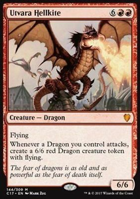 1x UTVARA HELLKITE - Rare - Commander - MTG - NM - Magic the Gathering