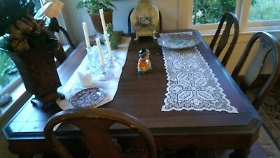 Antique Dining Room Set Table & 6 Chairs Original Condition - Owner for 45 Year