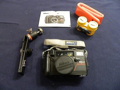 Vintage Nikon Action Touch 35mm f2.8 waterproof camera package. Works. Excellent