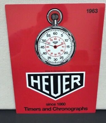 Aluminum  Heuer Porsche VintageRacing  Reproduction Garage Sign