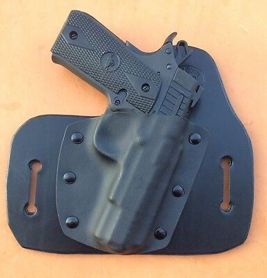 LEATHER/KYDEX HYBRID OWB holster Rock Island Armory M1911 A  380