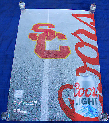 COORS USC TROJANS 2017 Promotional 4x6 Bus Shelter Poster man cave beer bar
